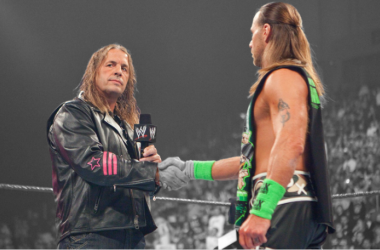 Bret Hart and Shawn may have put their rivalry to bed but they still remember the past (image: bleacherreport)