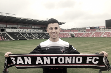 Mikey Lopez joined San Antonio FC this preseason.   Photo: @SanAntonioFC on Twitter