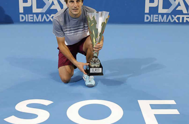 Mriza Basic celebrates with his first title in Sofia (Twitter)