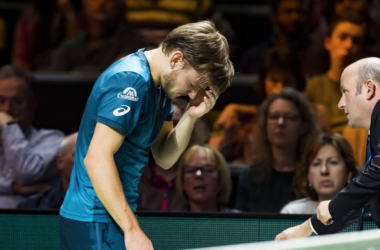 Goffin had a freak accident in Rotterdam (Sky Sports Tennis)