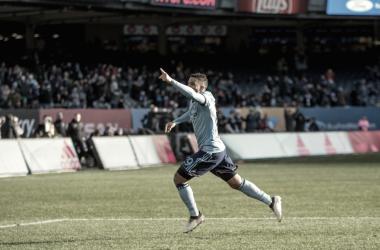 Ismael Tajouri celebrating the opener. | Photo: New York City FC