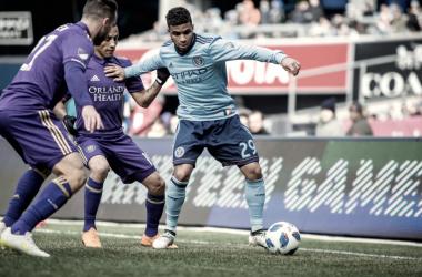 Ismael Tajouri in his first MLS start. | Photo: New York City FC
