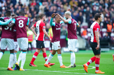Arnoutivoic hit a first half brace in a vital win for West Ham. (Photo credit: West Ham)
