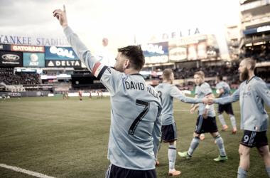 David Villa celebrating *that* goal.| Photo: New York City FC
