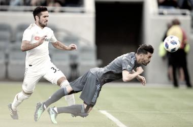 David Villa scoring in NYCFC's most recent game. | Photo: New York City FC