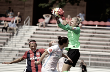 Houston Dash goalkeeper Jane Campbell collected her second clean sheet of the season. (Photo: Houston Dash via twitter @HoustonDash)