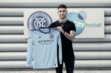 Castellanos with his new kit. | Photo: New York City FC