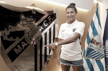 Pamela en su renovación. | Foto: Málaga CF