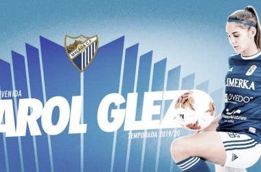 Presentación de Carol González. | Foto: Málaga CF