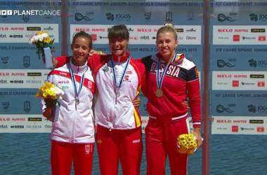 La kayakista Sara Ouzande, medalla de plata en K-1 200 metros en el Campeonato del Mundo Sub-23. Foto: Planet Canoe