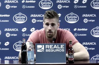 Albentosa en rueda de prensa. Imagen: RC Deportivo