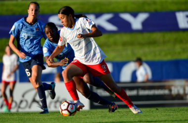 Sam Kerr had a bittersweet homecoming as she scored a hat trick against her former team. | Photo: isiphotos.com