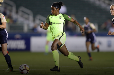 Jasmyne Spencer scored twice for Seattle in 2018. | Photo: isiphotos.com