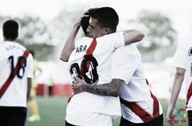 Jugadores del Sevilla Atlético celebrando un gol esta temporada | LaLiga.es