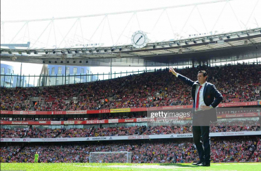Emery on the touchline at The Emirates for the first time this season (getty images/Stuart MacFarlane)