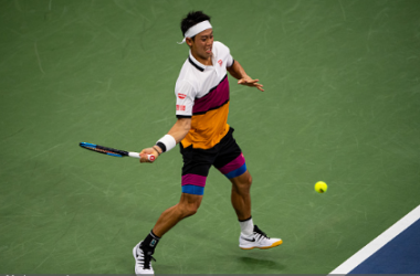 Nishikori is seeking his sixth consecutive Grand Slam quarterfinal (Image source: Zimbio/TPN/Getty Images)