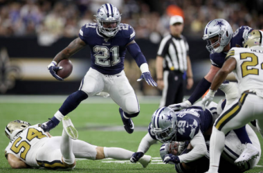 Ezekiel Elliott in action against the New Orleans Saints (Photo: Chris Graythen)