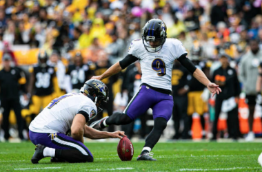 Justin Tucker kicked the game-winning field goal in overtime (Photo: Mark Alberti)