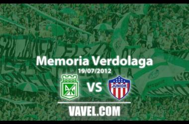 Memoria 'verdolaga': choque entre Nacional y Junior en la Superliga de 2012