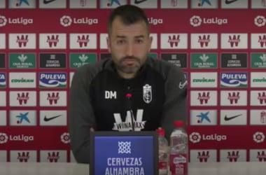 Diego Martínez durante la rueda de prensa. Foto: Captura GCF.