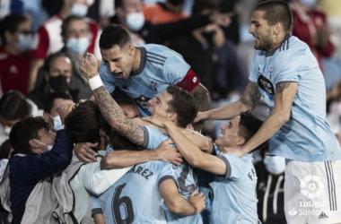 Celebración del Celta tras el gol / Foto: LaLiga