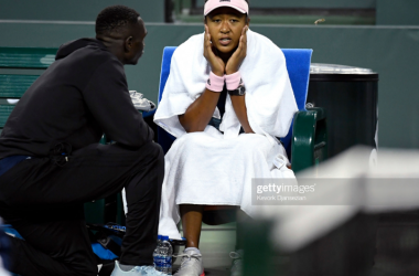 Osaka and Jenkins together at Indian Wells, during the early stages of their partnership (Getty Images/Kevork Djansezian)