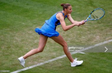 Pliskova in action in Birmingham last week (Getty Images/Morgan Harlow)