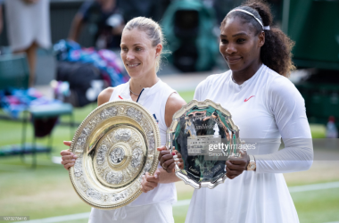 Angelique Kerber beat Serena Williams in the final last year, and the two are set to play in the fourth round again this year (Getty Images/Simon M Buty)