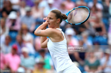 Karolina Pliskova is yet to drop a set in Eastbourne as she aims for her second title at the tournament (Getty Images/Charlie Crowhurst)