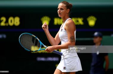 Karolina Pliskova celebrates her second round win (Getty Images/Clive Brunskill)