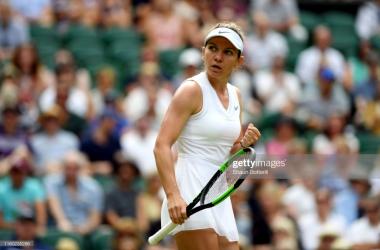 Wimbledon: Simona Halep slides past Victoria Azarenka to reach week two