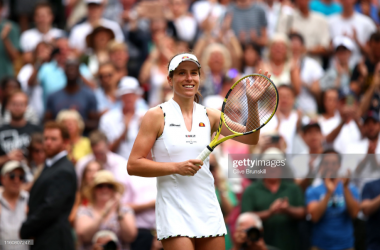 Konta celebrates victory in front of her home crowd (Getty Images/Clive Brunskill)