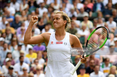 Barbora Strycova was the only unseeded player in the last eight to win her quarterfinal (Getty Images/Mike Hewitt)