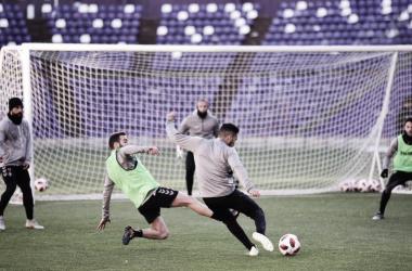 Entrenamiento previo al partido / Real Valladolid
