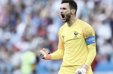 Hugo Lloris: celebrandoun gol ante Argentina. | Fuente: FIFA.com