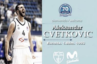 Aleksandar Cvetkovic vestirá la camiseta de Estudiantes la próxima temporada (Foto: Estudiantes)