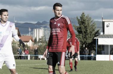 Andrés del Olmo ha sido el capitán del Mirandés B. | Foto: VAVEL