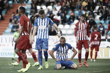 Yuri de Souza, lamentaba una ocasion fallada durante los primeros 45 minutos. FOTO | Twitter @SDP_1922