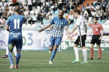 La Deportiva recibirá al Burgos en la 1ª Jornada, la ultima visita acabó con 4-2 para los blanquiazules. FOTO | Twitter @SDP_1922