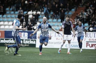 Isi abria la cuenta goleadora de la Deportiva a los tres minutos. FOTO | Twitter @SDP_1922