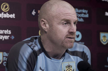 Sean Dyche en conferencia de prensa. | Foto: Burnley.