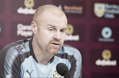 Sean Dyche en conferencia de prensa | Foto: Burnley Football Club