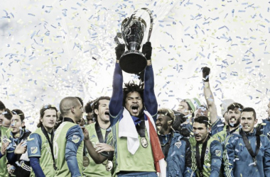Seattle Sounders lift their first ever MLS Cup. | Photo: Major League Soccer