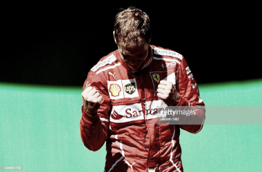 Vettel celebra la victoria. Foto: Getty Images.
