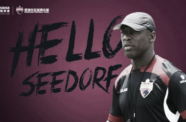 Clarence Seedorf é o novo técnico do Shenzhen FC (Foto: Divulgação/Shenzhen FC)