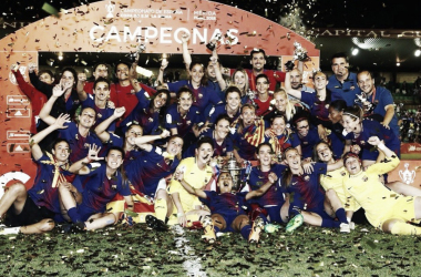 El FC Barcelona celebra la consecución de la Copa de la Reina | Foto: FC Barcelona