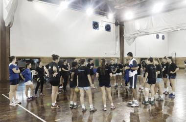 El seleccionado femenino junior se prepara para el Panamericano. Foto: CAH.