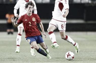 Odriozola en un partido con España. | Foto: Real Sociedad