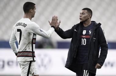Com Mbappé e Cristiano Ronaldo, França e Portugal não encontram espaços em empate