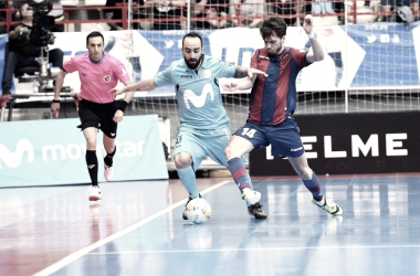 Movistar Inter acaba líder en temporada regular frente a un combativo Levante